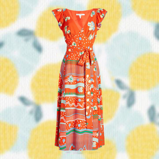 dress ad example in new background
